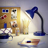 Настольная лампа на гибкой ножке офисная MTL-25 BL, фото 5