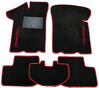 Текстильные коврики в салон ВАЗ 2108-09-099, 5 шт. (ML, чёрный+красный)