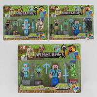 Герои JL 15911-2 (84) 3 вида, 4 игровых фигурки, на листе
