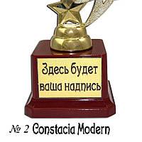 Индивидуальная печать надписи на табличке пьедестала для Кубков и Статуэток 2011