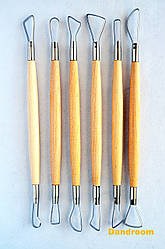 Набор инструментов для лепки, петля двусторонняя, 6 шт., D.K.ART & CRAFT