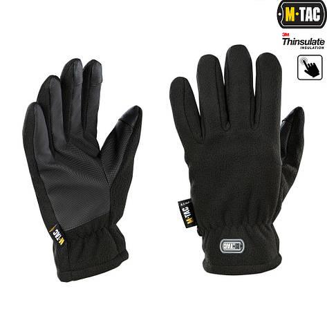 M-Tac перчатки Fleece Thinsulate Black, фото 2