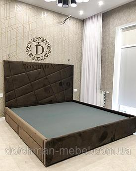 Кровать со стеновой панелью 140х200