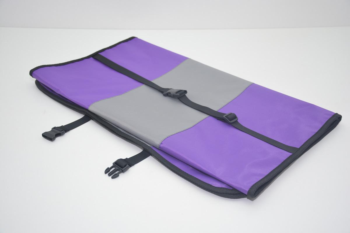 Авточехол на переднее сиденье для собак Гармония двухсторонний фиолетовый