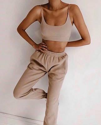 Костюм женский летний топ и штаны спортивные