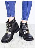 Жіночі зимові чоботи натуральна шкіра чорні, фото 5