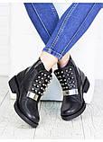Жіночі зимові чоботи натуральна шкіра чорні, фото 4