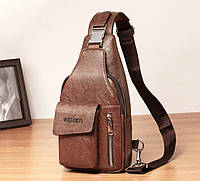 Мужской однолямочный рюкзак Сумка через плечо бананка WEIXIER