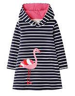 Трикотажное детское платье Фламинго 2Т, 3Т, 4Т, 5Т, 6Т, 7Т