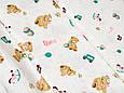 Сатин (бавовняна тканина) ведмедики з кульками (90*160), фото 2