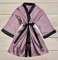 Атласный женский халат