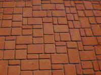 Тротуарная плитка Старый город 60 оранжевая, Белая основа