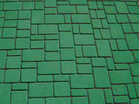 Тротуарная плитка Старый город 60 зеленая, Белая основа
