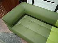 Офисный диван в офис Стронг Mix (MebliSTRONG) - темно-светло зеленый матовый цвет, фото 3