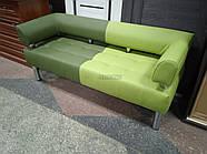 Офисный диван в офис Стронг Mix (MebliSTRONG) - темно-светло зеленый матовый цвет, фото 4