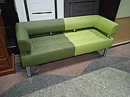Офисный диван в офис Стронг Mix (MebliSTRONG) - темно-светло зеленый матовый цвет, фото 5