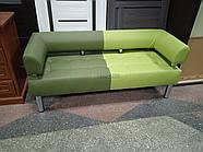Офисный диван в офис Стронг Mix (MebliSTRONG) - темно-светло зеленый матовый цвет, фото 7