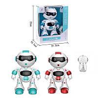 Игрушка Робот р/у 99333-2 (36/2) 2 цвета, свет, звук, сенсорная кнопка, ходит, танцует, английская озвучка