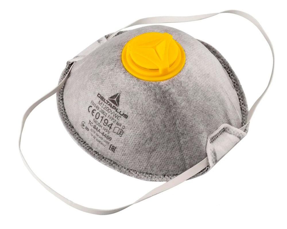 Респиратор с клапаном выдоха Delta Plus M1200VW, маска от пыли FFP2   респіратор протипиловий (1 шт./уп.) (GK)