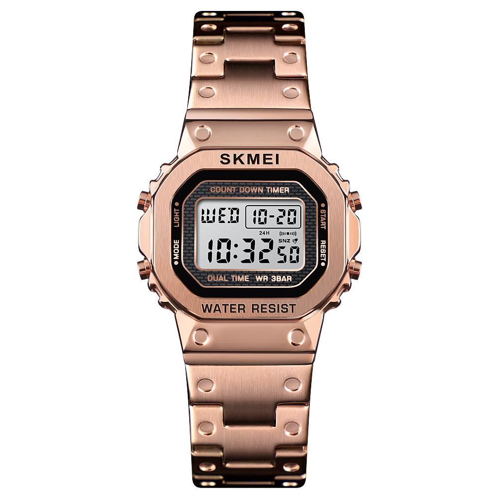 Skmei 1433 singapore  розовое золото женские спортивные часы