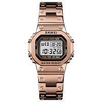 Skmei 1433 singapore  розовое золото женские спортивные часы, фото 1