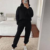 Теплый спортивный костюм с капюшоном и карманом-кенгуру, фото 3