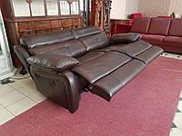 Новый кожаный диван диван реклайнер комната отдыха релакс шкіряний диван