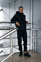 Спортивный костюм Nike мужской Ветровка Анорак Найк черная + Штаны + Барсетка (Весенний/Осенний/Летний)