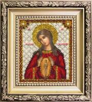 """Набор для вышивки ювелирным бисером """" Икона Богородицы Помощница в родах"""""""