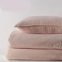 Комплект постельного белья SoundSleep Stonewash Adriatic pastel pink пастельно-розовый Двуспальный евро