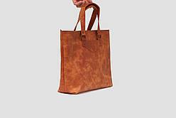 Сумка для покупок кожаная LS-09-CH Коньячный