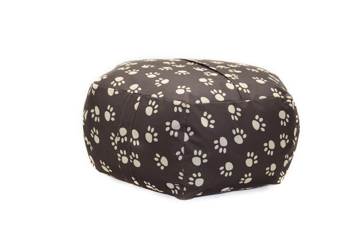 Пуф для собак и котов Глория коричневый №5 d -900 h-300