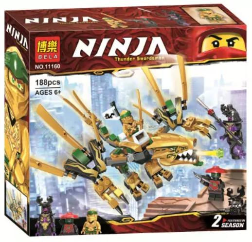 Конструктор Ninja Ниндзяго Золотий Дракон BELA