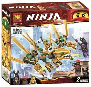 Конструктор Ninja Ниндзяго Золотий Дракон BELA, фото 2