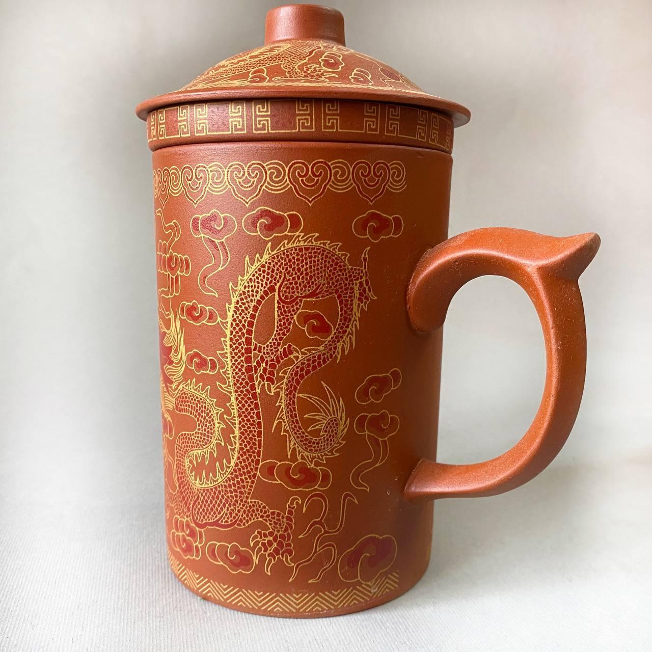 Чашка-заварник из иссинской глины 300 мл