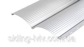 Блок хаус металлический RAL 9006 глянец односторонний серый металлик