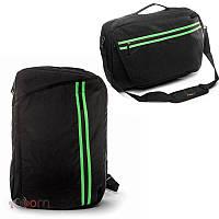 Рюкзак - сумка міська для ноутбука чорна BST 320017 29х12х45 див. чорний