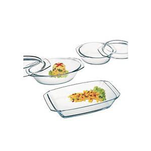 Набор стеклянной посуды Simax для запекания 3 пр.(кастрюля 1,5л; гусятница 2,4л;блюдо для запекани 2,4л)(s302)
