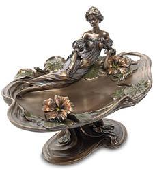 Ваза Veronese Леді і квіти настурції 28х18х18 см 1904306