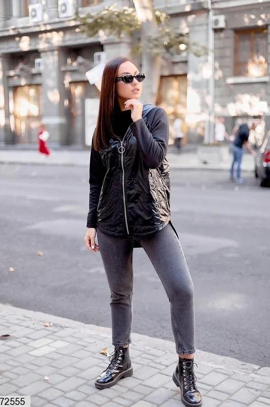 Стильна куртка на флісі великий розмір: 48-50,52-54,56-58
