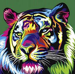 Алмазная Мозаика Красочный Тигр Набор Вышивки Камнями DIY-9800 30x30 см