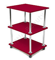 Косметологическая тележка, столик мастера маникюра 30х40х70см. Красная, материл ДСП (Мод. 001)