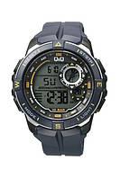 Q&Q M175J чорні з жовтими вставками чоловічі спортивні годинник