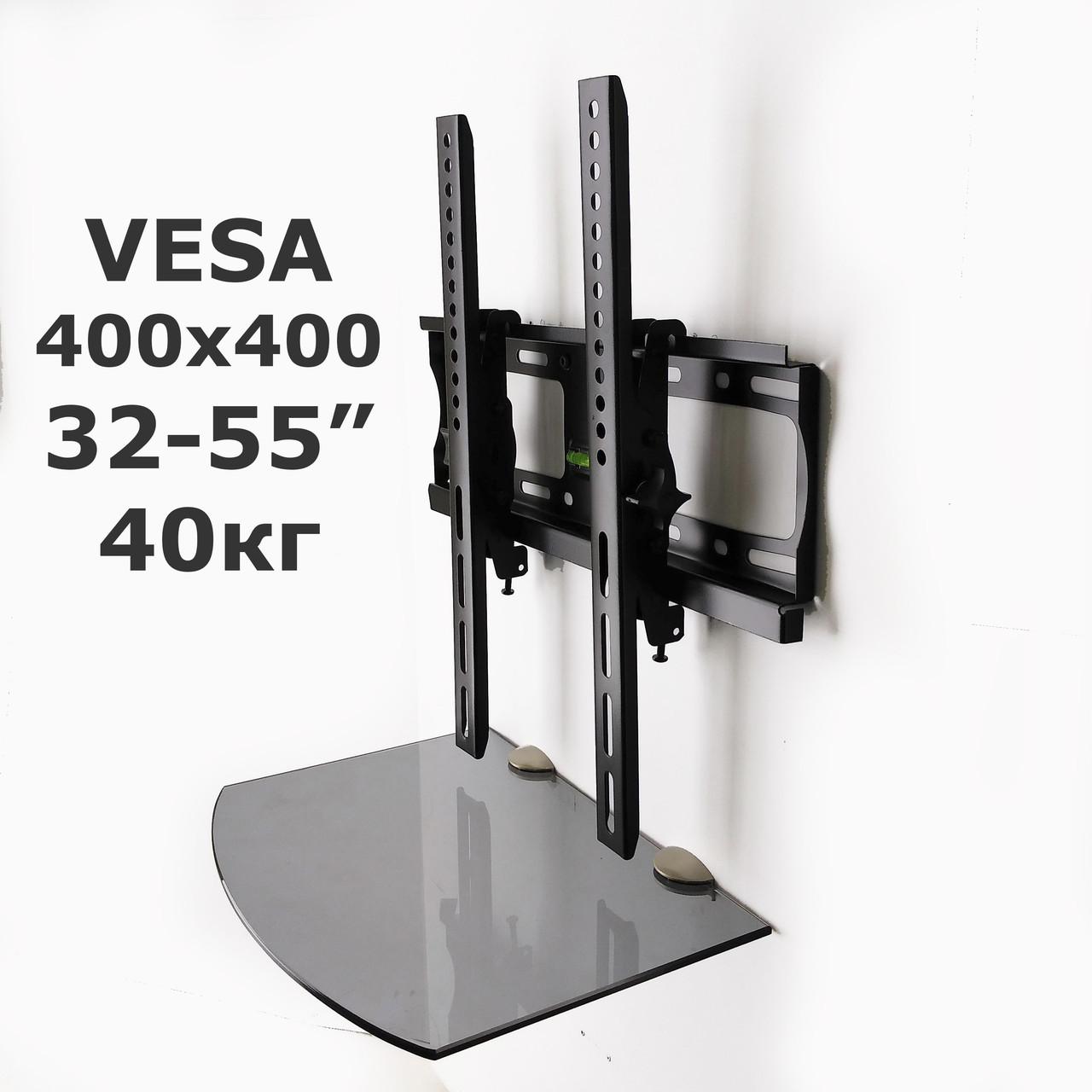Комплект для TV и тюнера - кронштейн 905ST и полка Gray (серый) 240*350*6