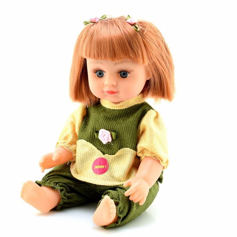 Кукла Оксаночка 5025-OK (Жёлто-Зелёный наряд), 28см, муз(укр), в рюкзаке