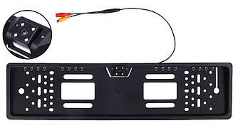 Камера заднего вида в рамке номерного знака SmartTech A58 (16 +4 LED) з подсветкой Black (3188) Уценка 1911213