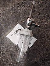 Увлажнитель кислорода с расходомером (флоуметр), под соединение din