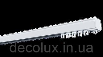 Карниз потолочный алюминиевый усиленный  однорядный, ДЕКО-1