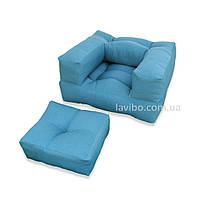 Бескаркасное кресло трансформер Куб (саржа)