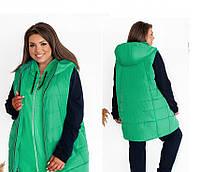 Жіноча тепла жилетка, фото 1